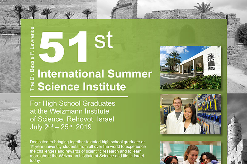 51st International Summer Science Weizmann Institut